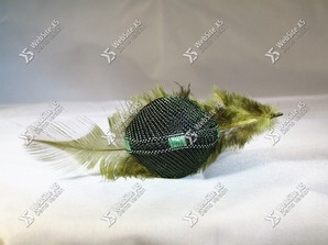 Ring Stof Green Feather
