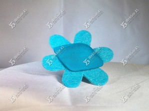 Ring Stof Blue Flower
