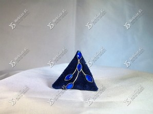 Ring Stof Blue Triangle