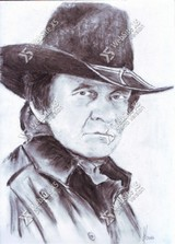Portret Johnny Cash