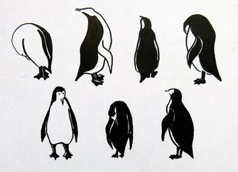 Illustratie Pinguins